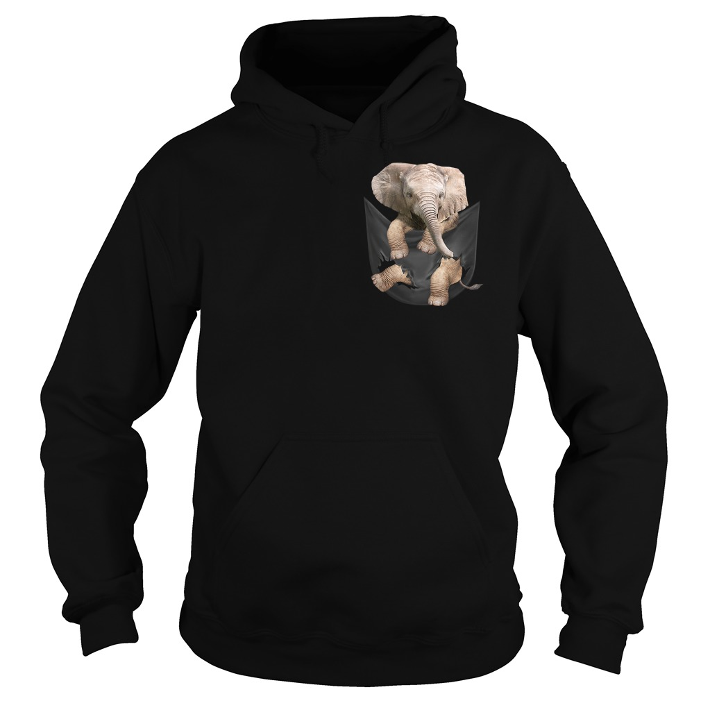 Elephant in a pocket Hoodie