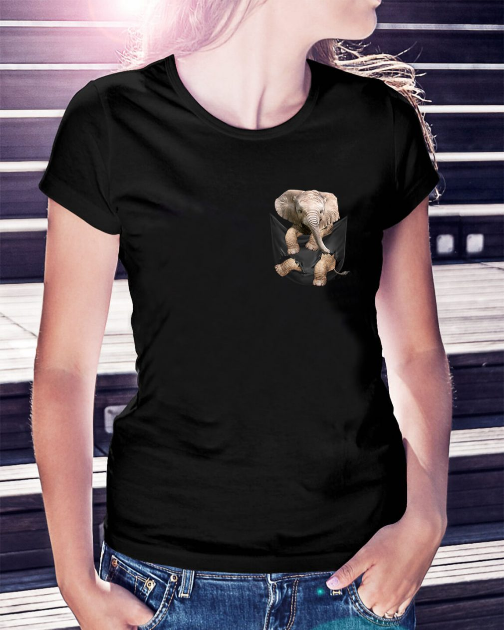 Elephant in a pocket Ladies Tee