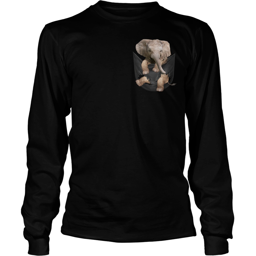 Elephant in a pocket Longsleeve Tee