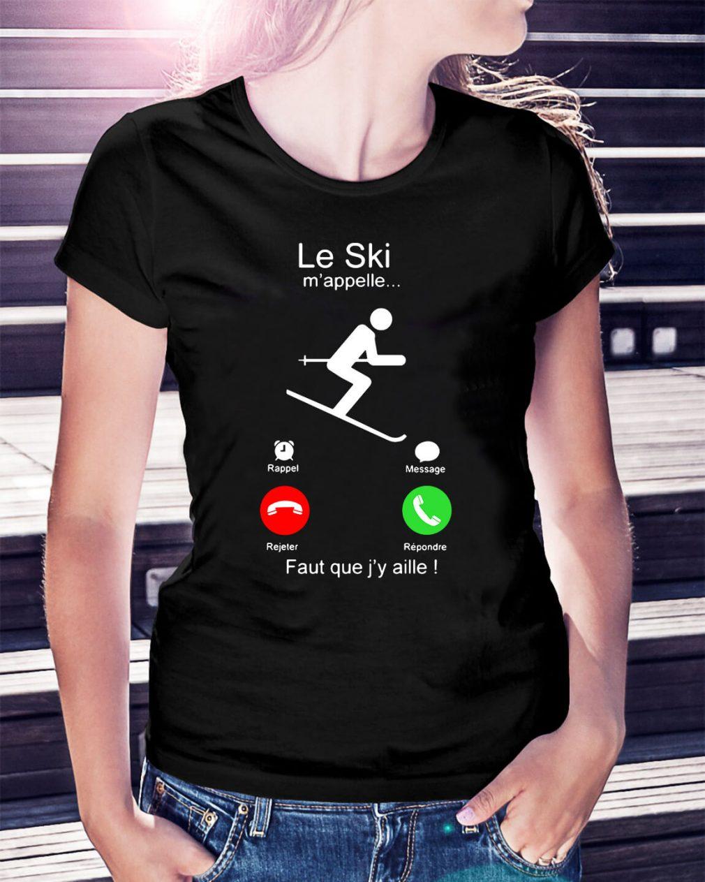 Veni Vici Le Ski m'appelle faut que j'y aille Ladies Tee