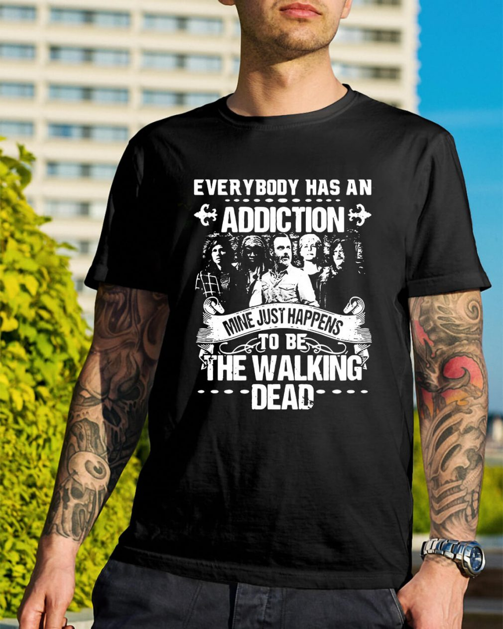 Everybody has an addiction mine happens to be The Walking Dead shirt