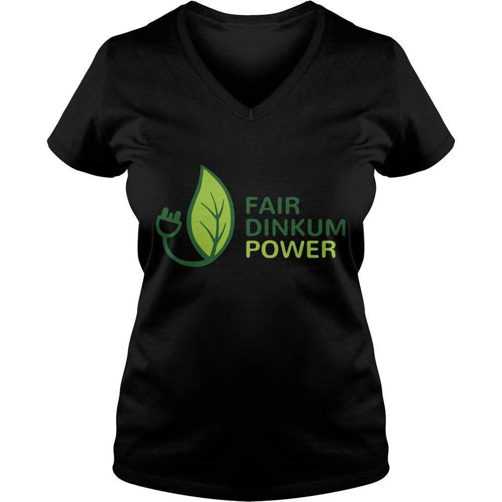 Fair dinkum power V-neck T-shirt