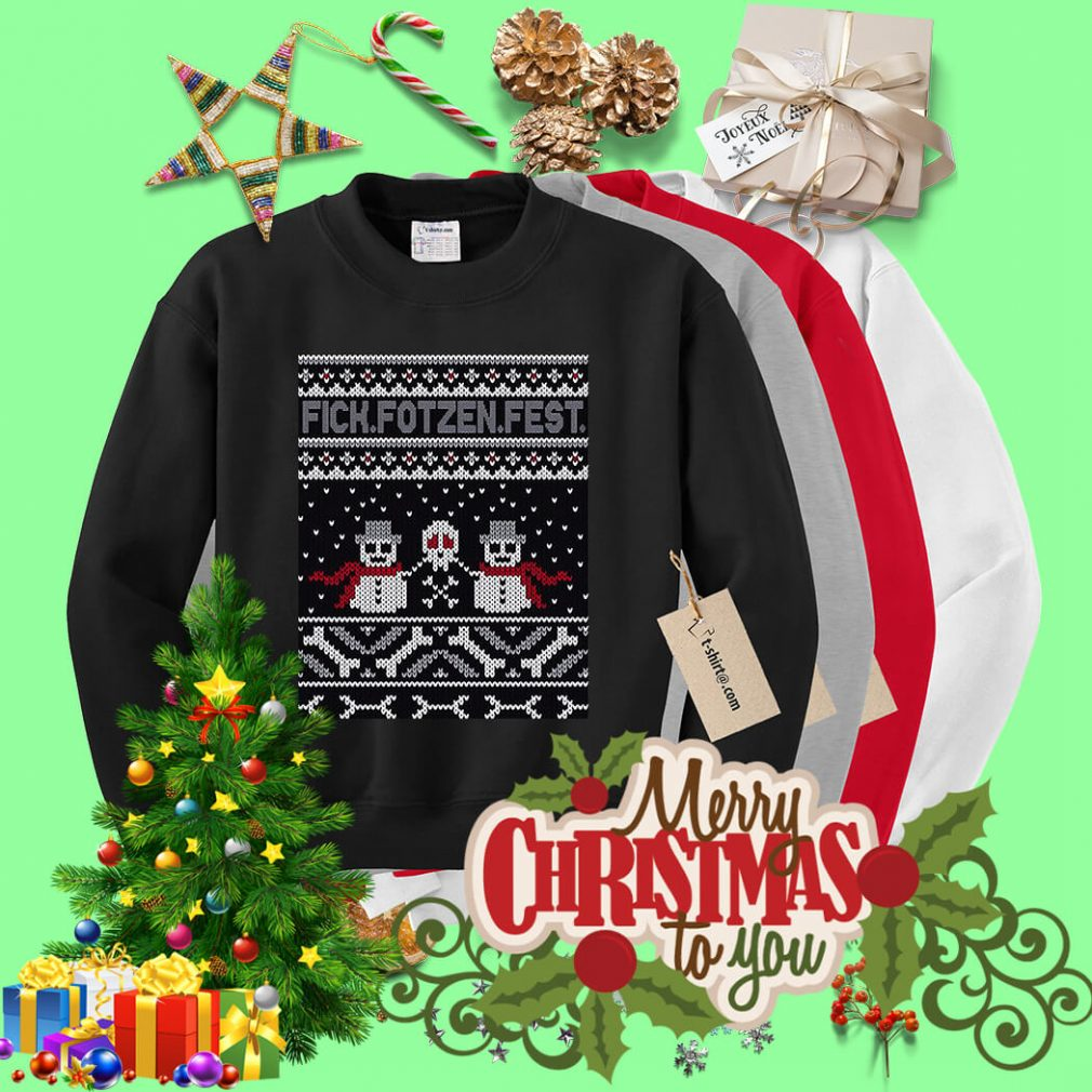 Fick Fotzen Fest ugly Christmas sweater