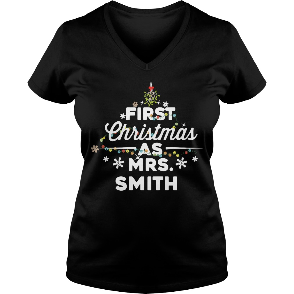 First Christmas light as Mrs Smith V-neck T-shirt