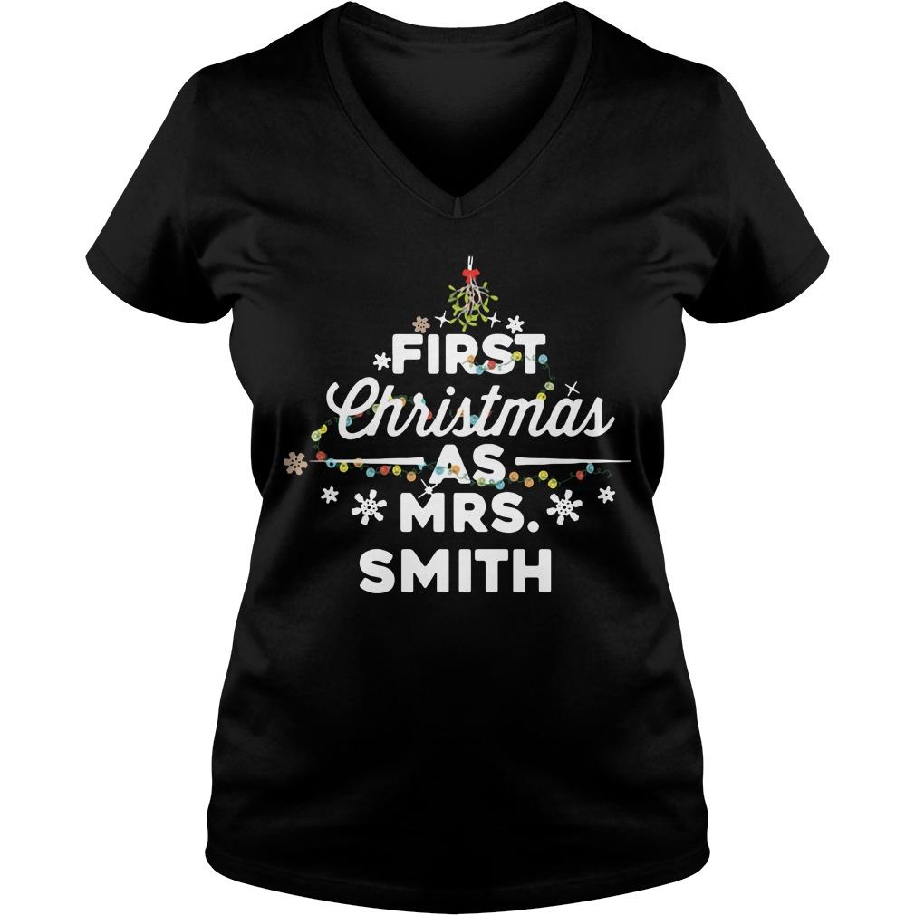 First Christmas light as Mrs Smith V-neck T-shirt