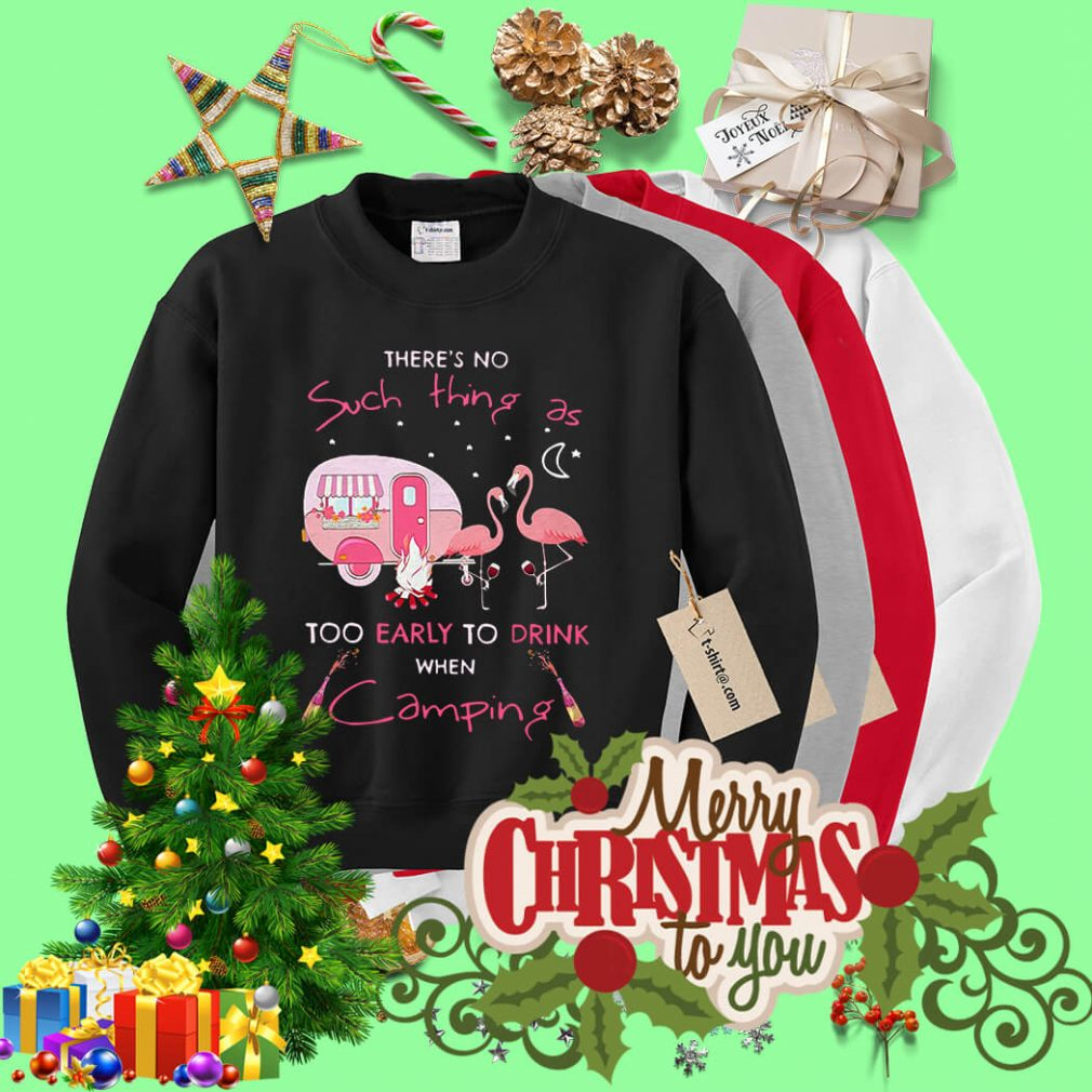 Flamingo my drinking friends camping problem Sweater