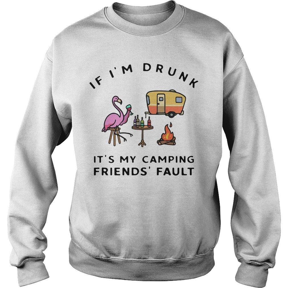 Flamingo if I'm drunk it's my friend's fault Sweater