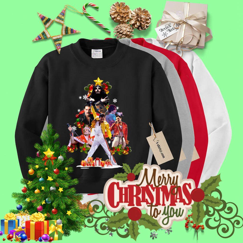 Freddie Mercury Christmas tree shirt, sweater