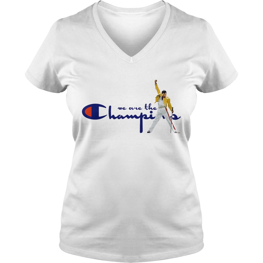 Freddie Mercury we are the Champions V-neck T-shirt