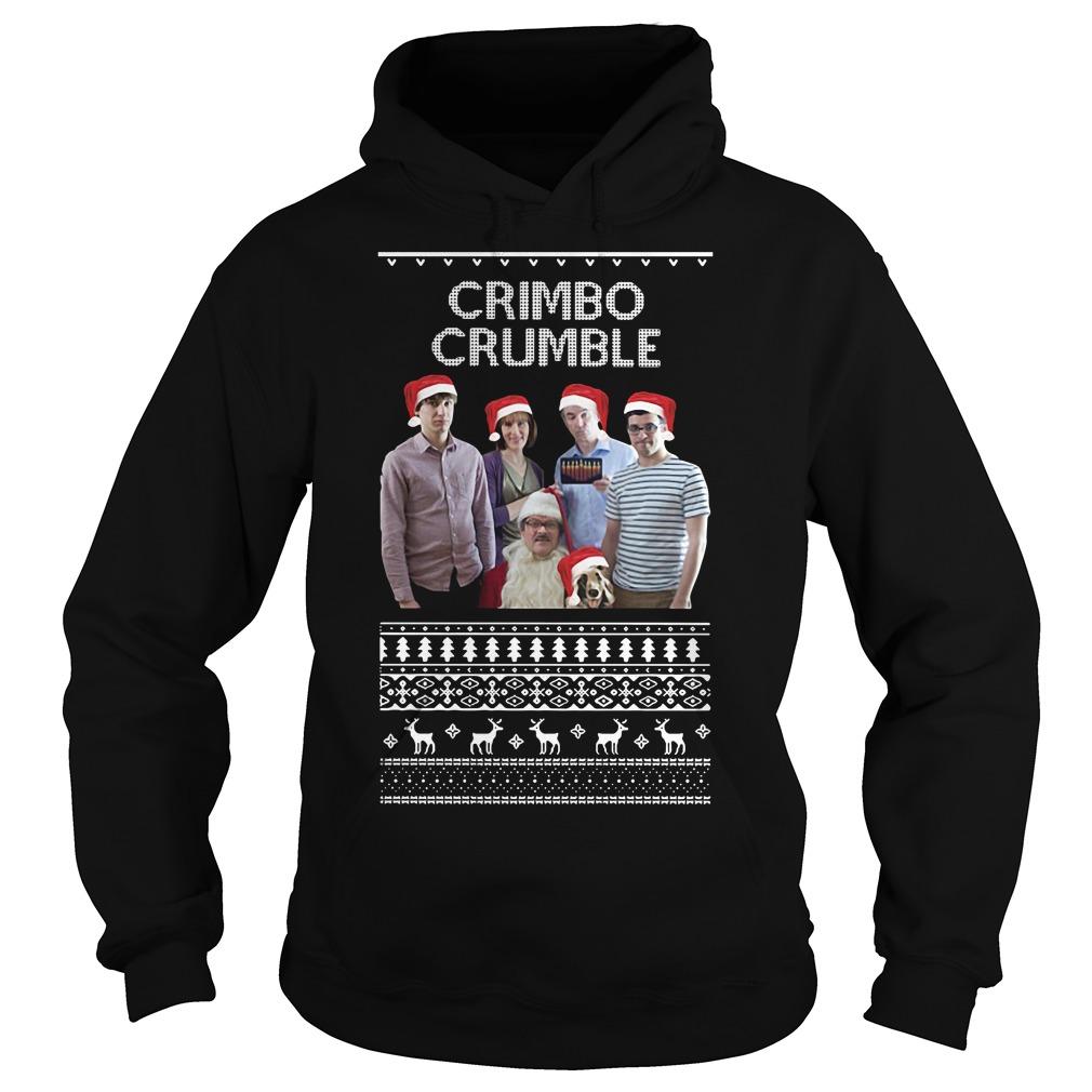 Friday Night Dinner Crimbo Crumble ugly Christmas Hoodie