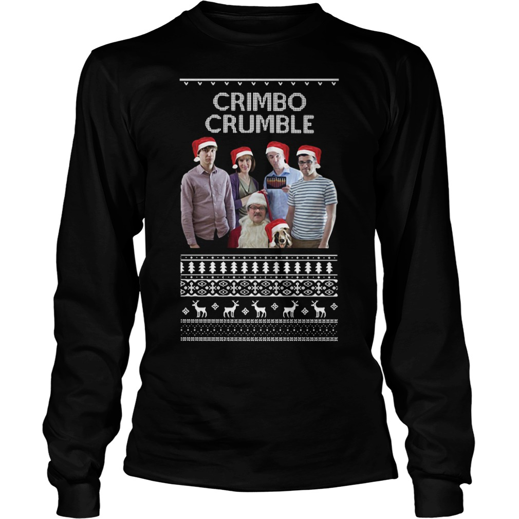 Friday Night Dinner Crimbo Crumble ugly Christmas Longsleeve Tee