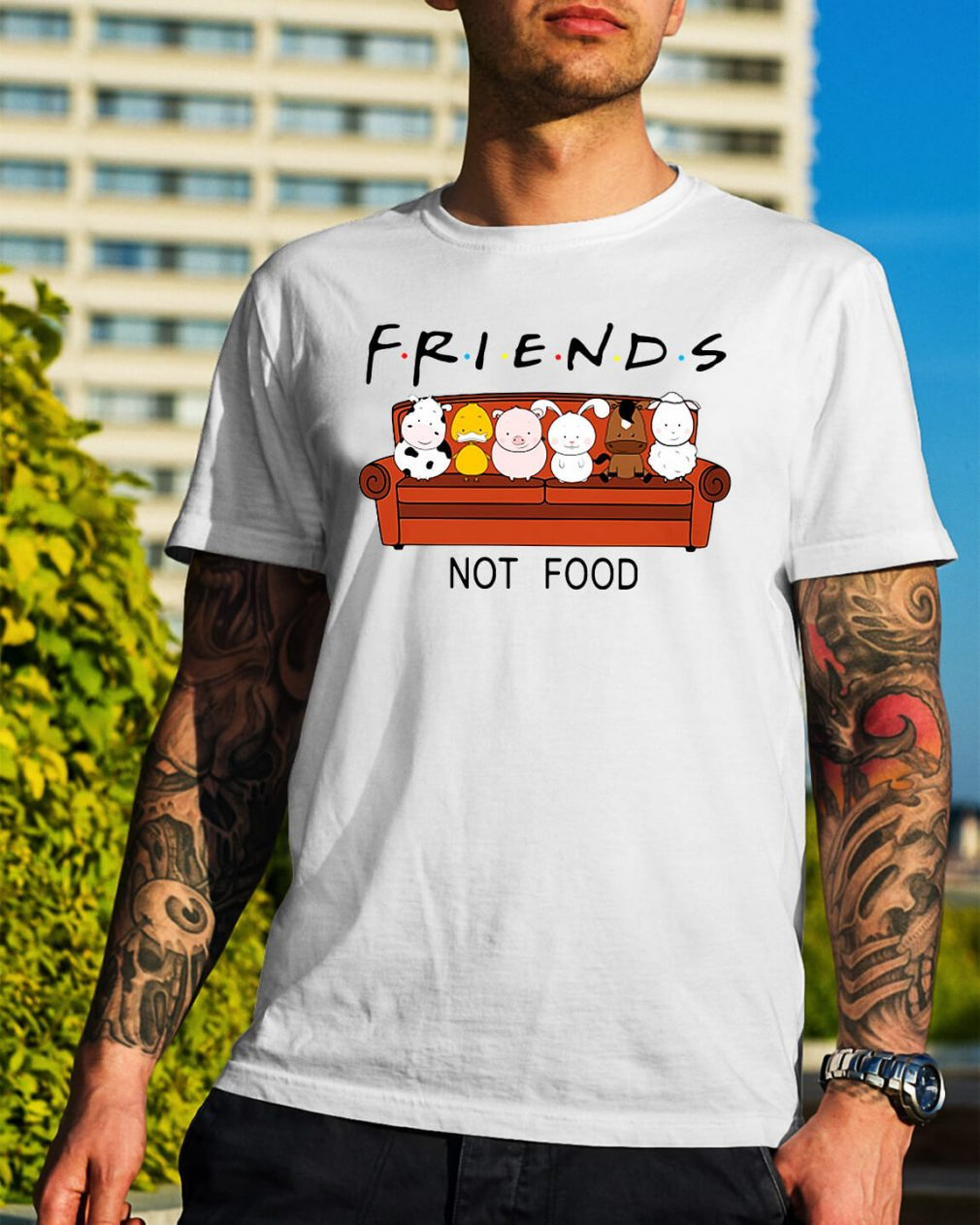 Friends TV show animal are friends not food shirt