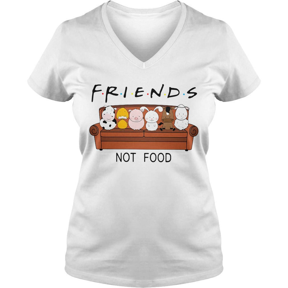 Friends TV show animal are friends not food V-neck T-shirt