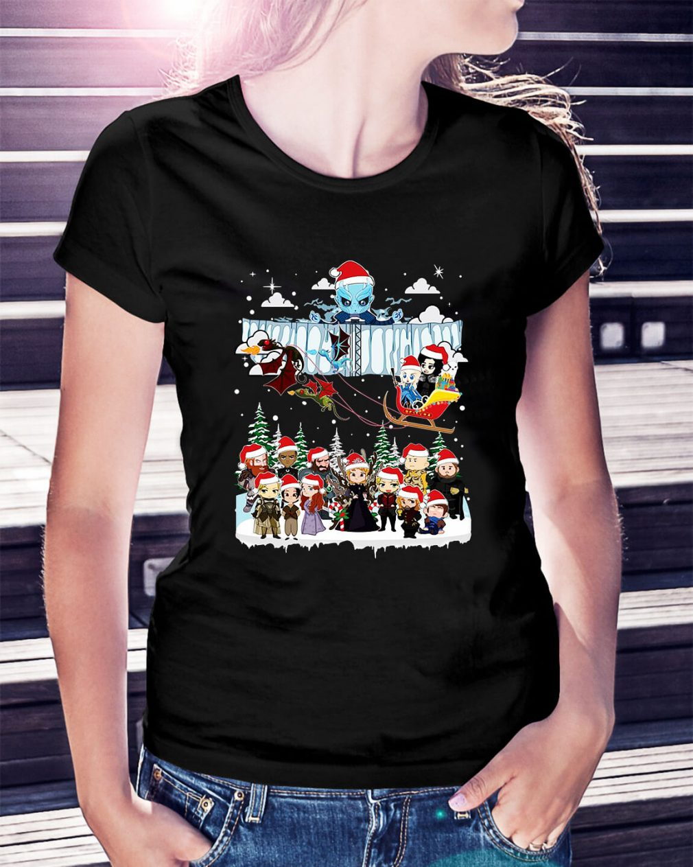 Game of Throne Chibi ugly Christmas Ladies Tee