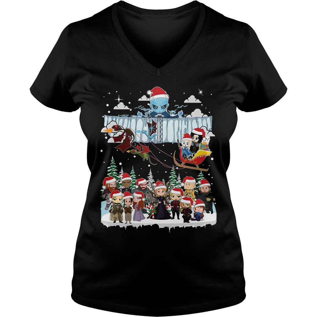 Game of Throne Chibi ugly Christmas V-neck T-shirt