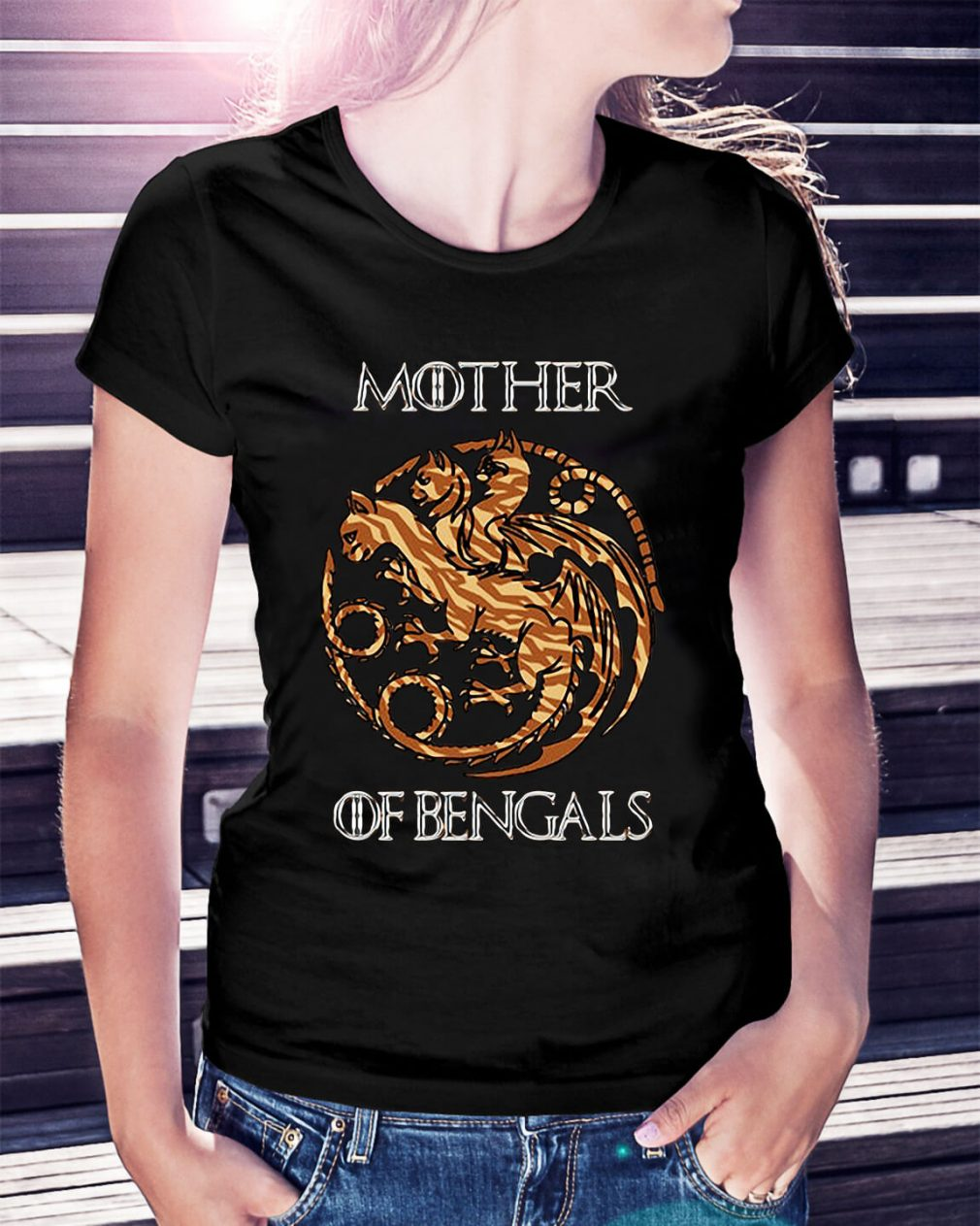 Game of Thrones mother of Bengals Ladies Tee