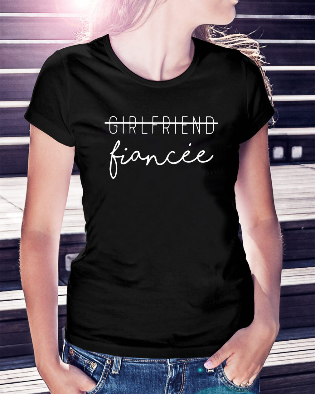 Girlfriend Fiancee Ladies Tee