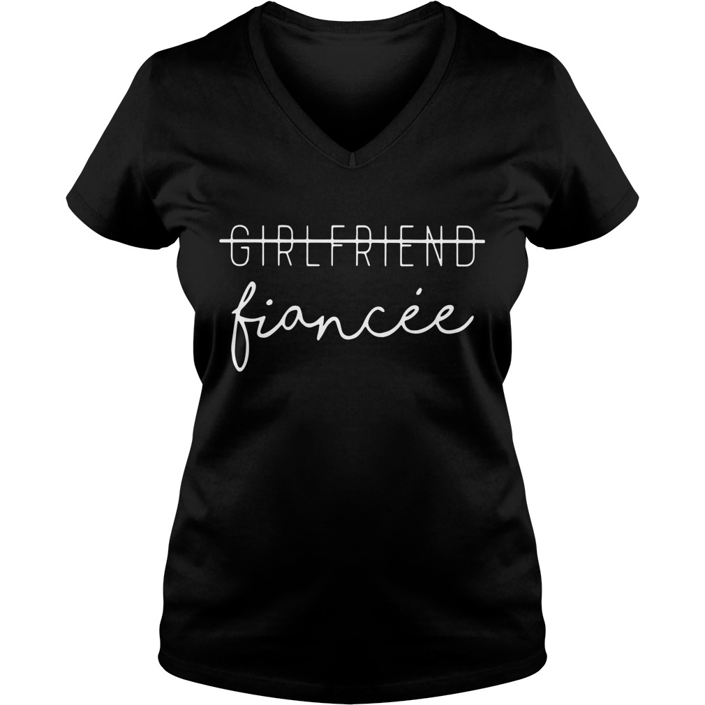 Girlfriend Fiancee V-neck T-shirt