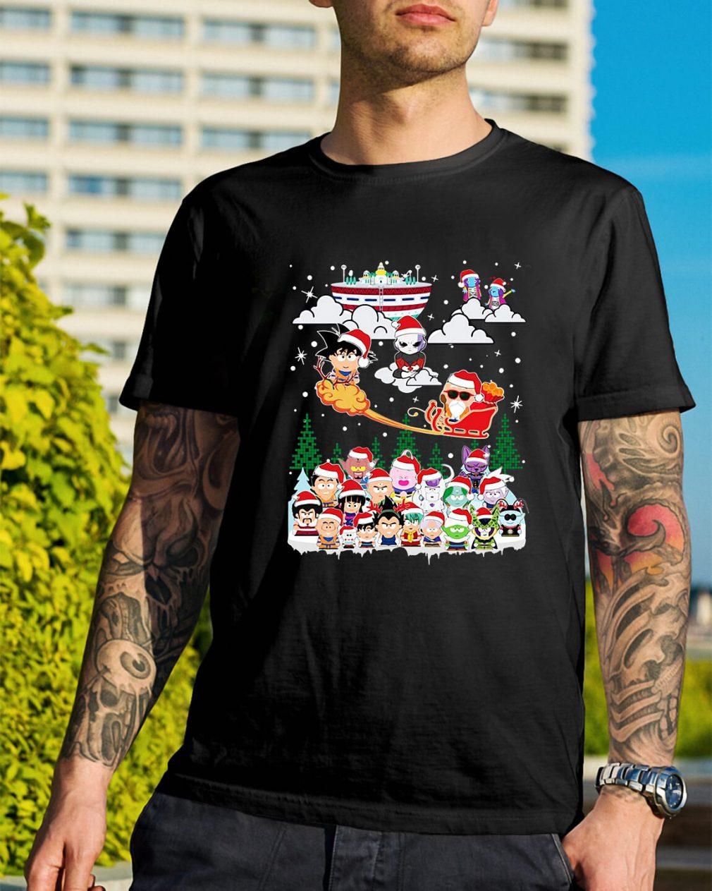 Goku vs Jiren Dragon ball superhero Santa Christmas Guys Shirt