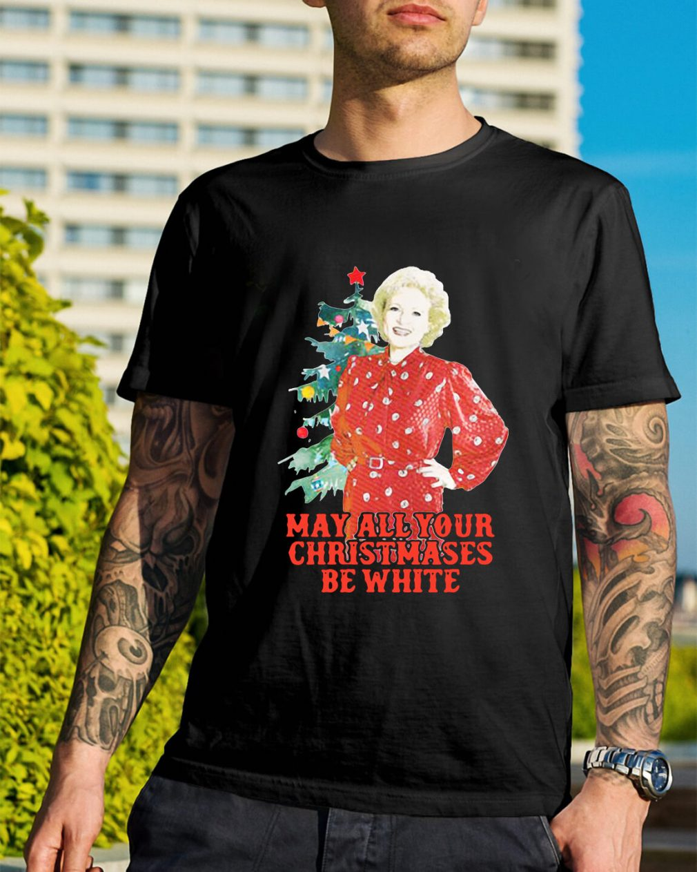 Golden Girls Alison may all your Christmases be white Guys Shirt