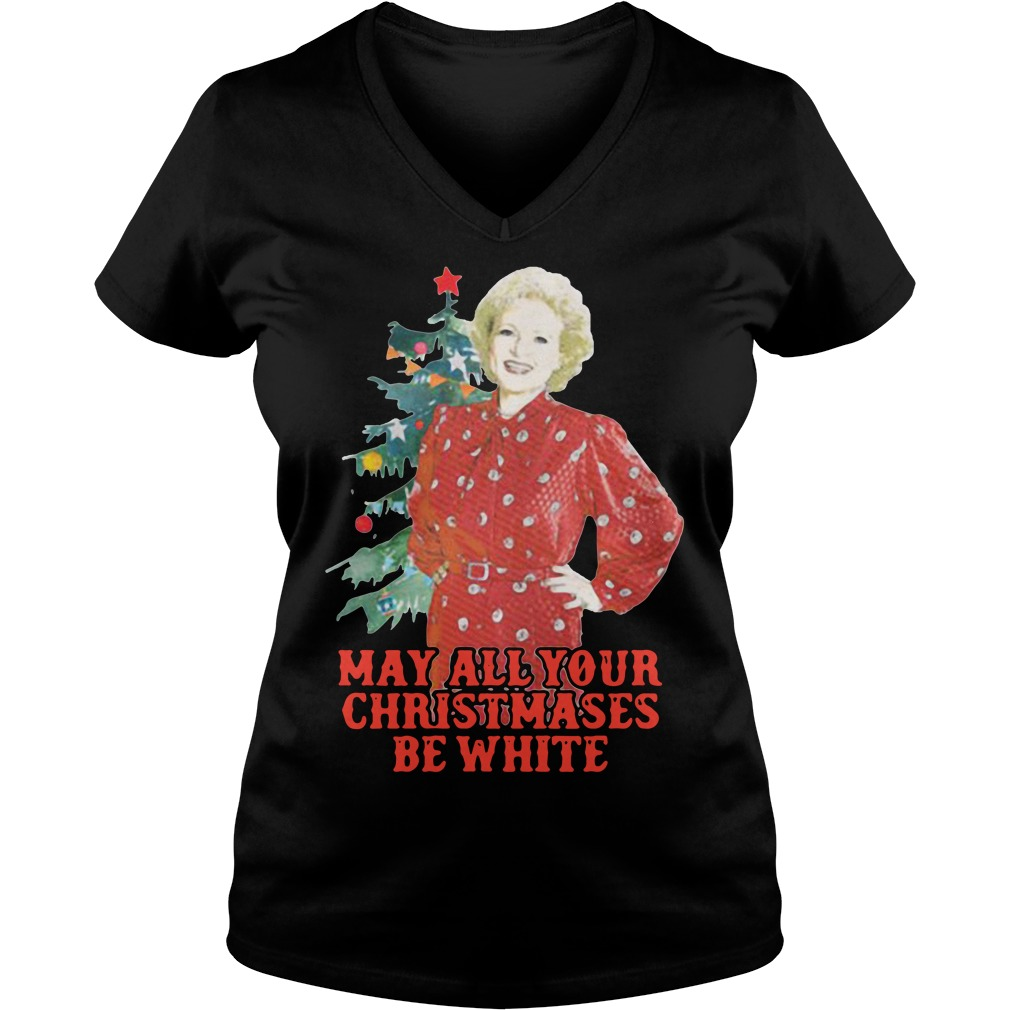 Golden Girls Alison may all your Christmases be white V-neck T-shirt
