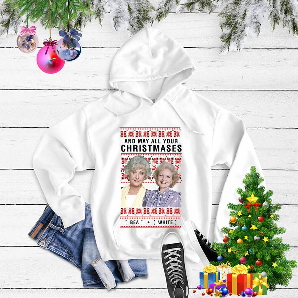 Golden Girls and may all your Christmases Bea white shirt, sweater