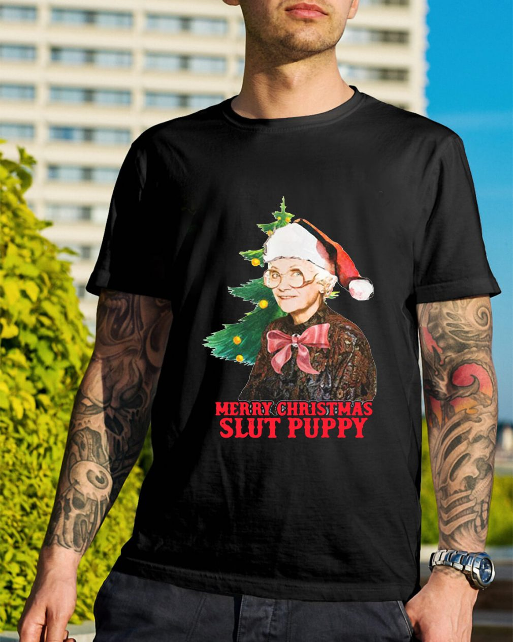 Golden Girls Sophia Slut Puppy Merry Christmas slut puppy Guys Shirt