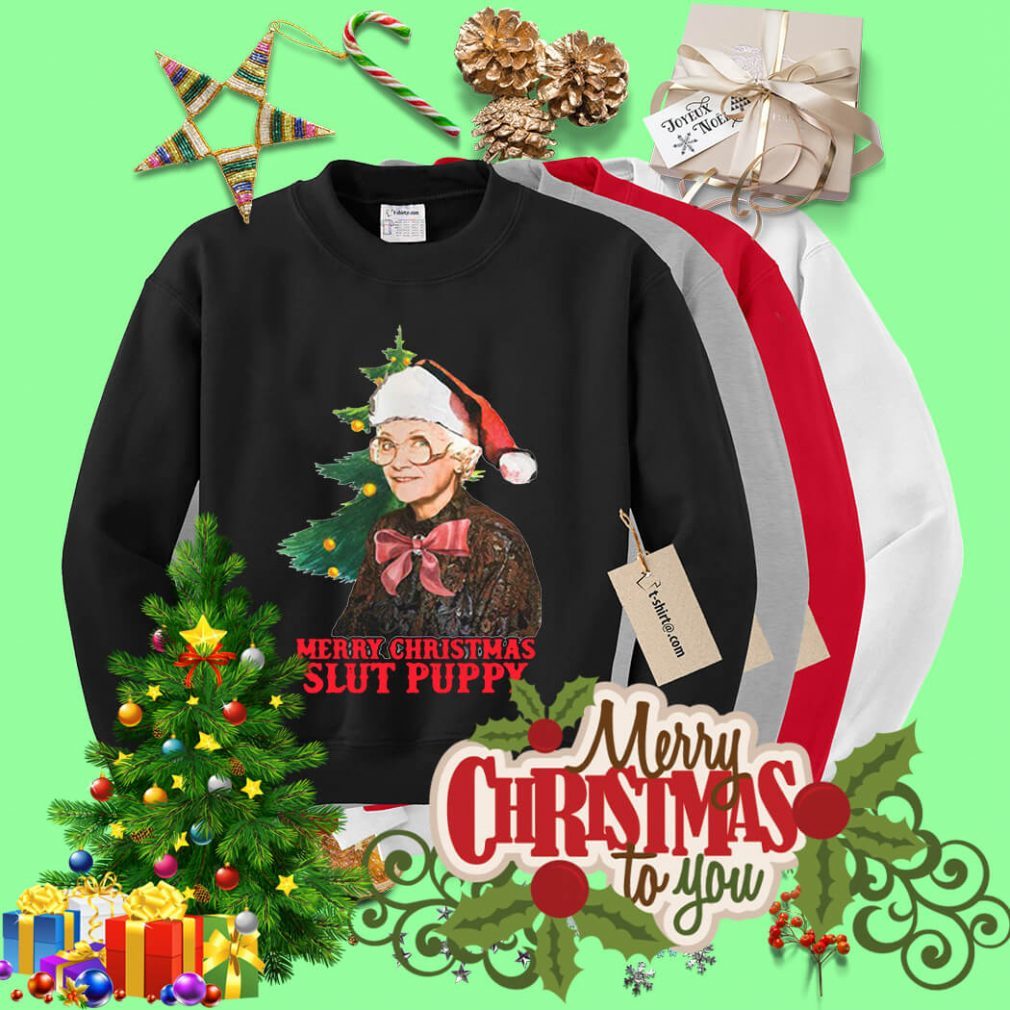 Golden Girls Sophia Slut Puppy Merry Christmas slut puppy shirt, sweater