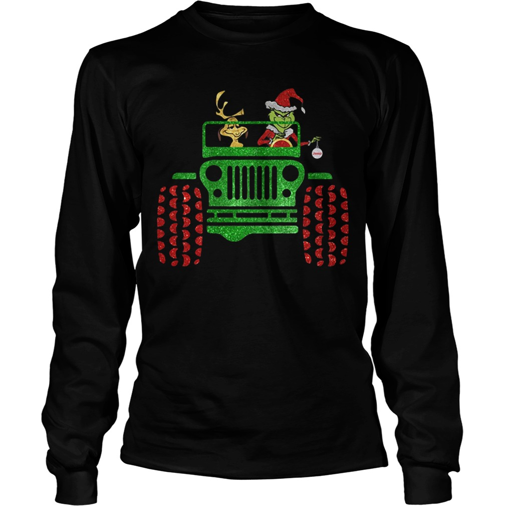 Grinch and Max Dog driving jeep Longsleeve Tee