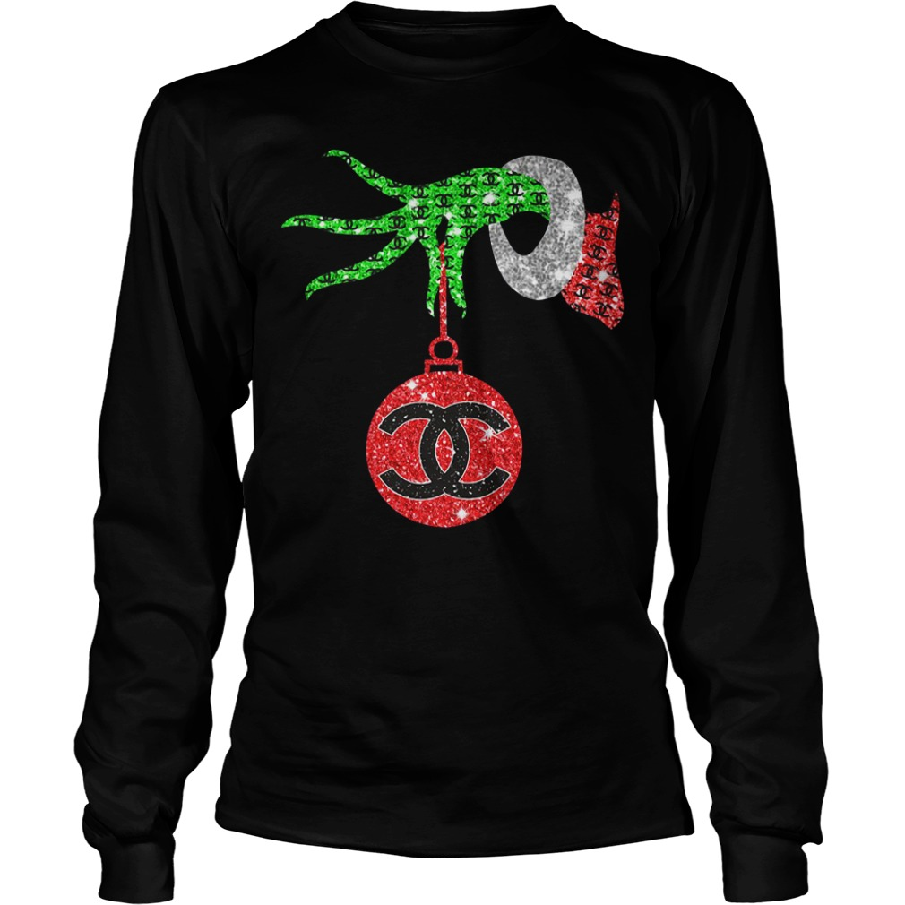 Grinch hand holding Channel Ornament Longsleeve Tee