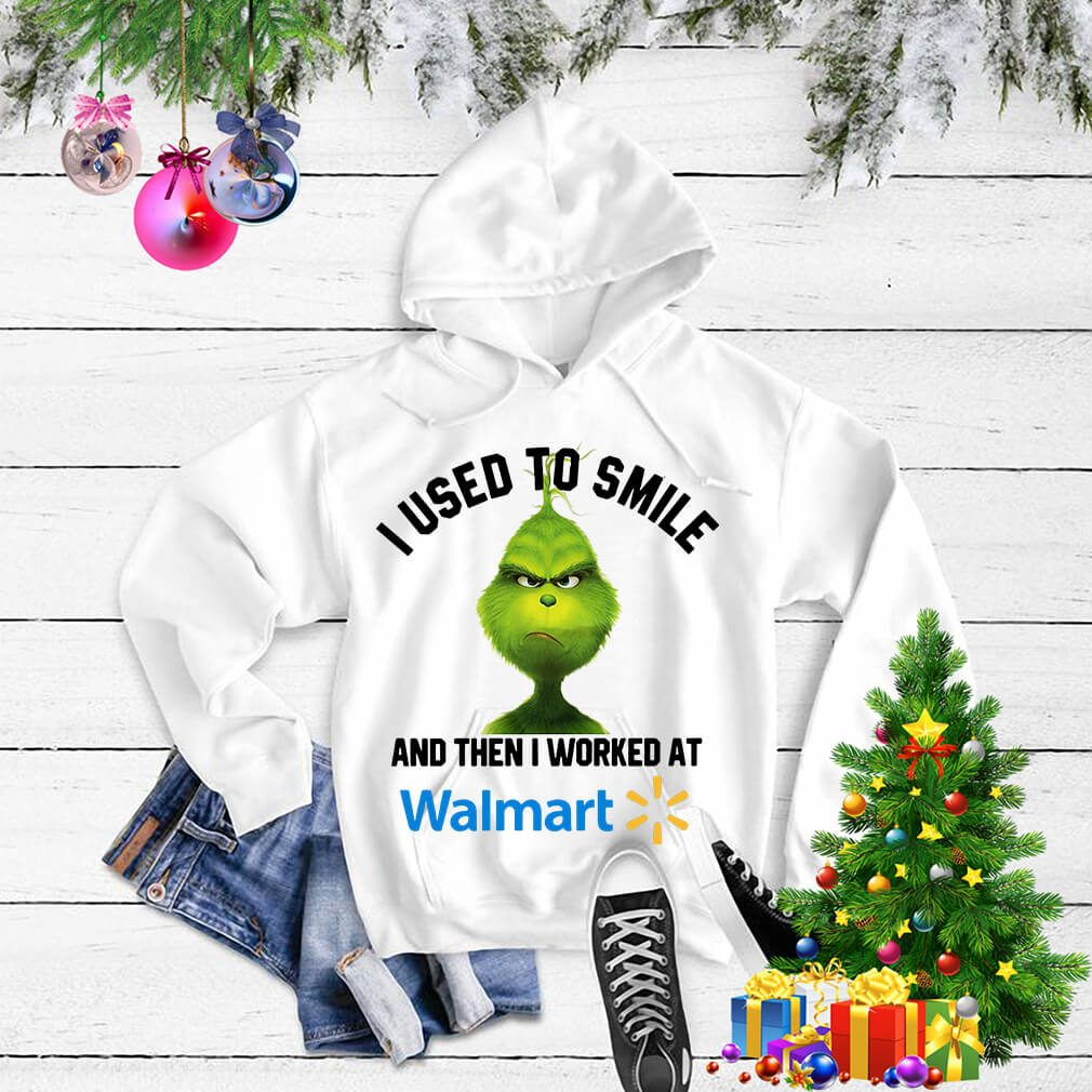 Grinch I used to smile and then I worked at Walmart Christmas Sweater