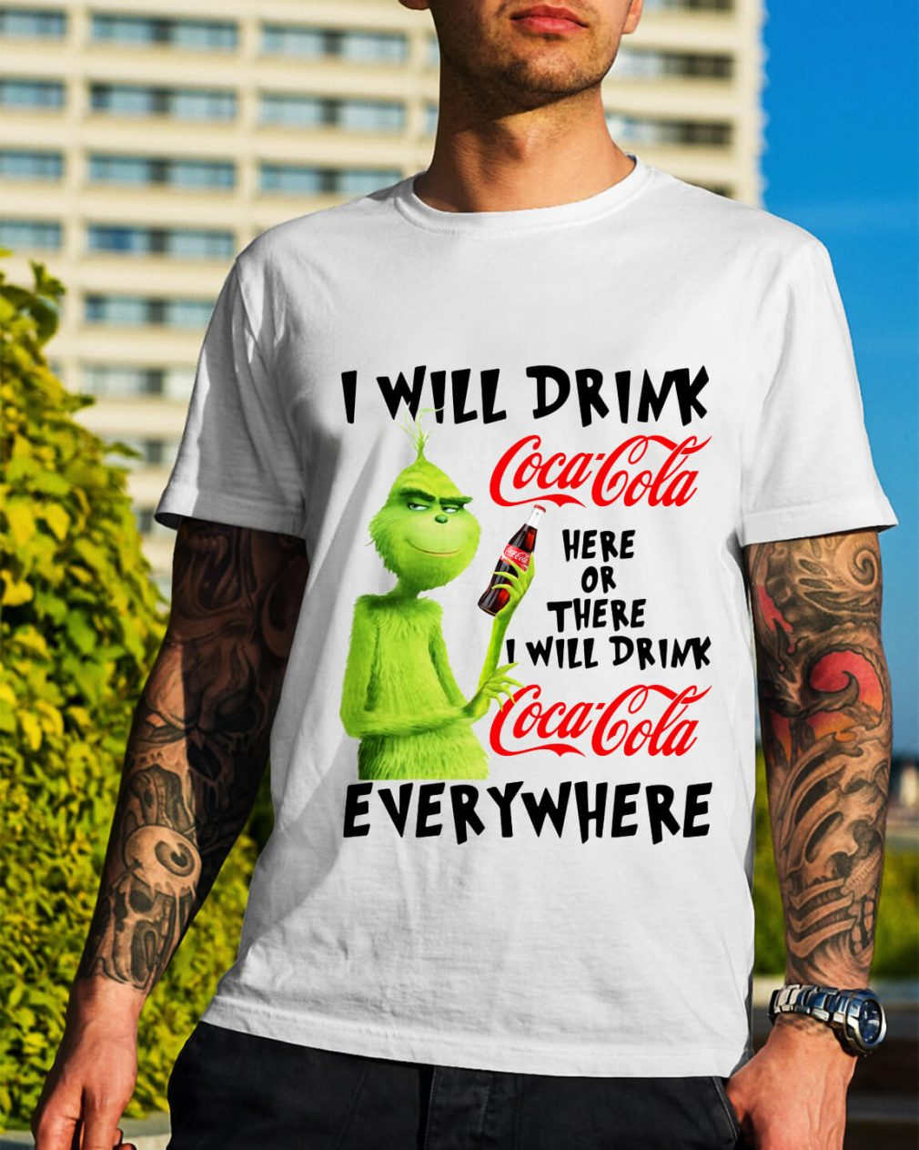 Grinch I will drink Coca Cola here or there I will drink Coca Cola shirt