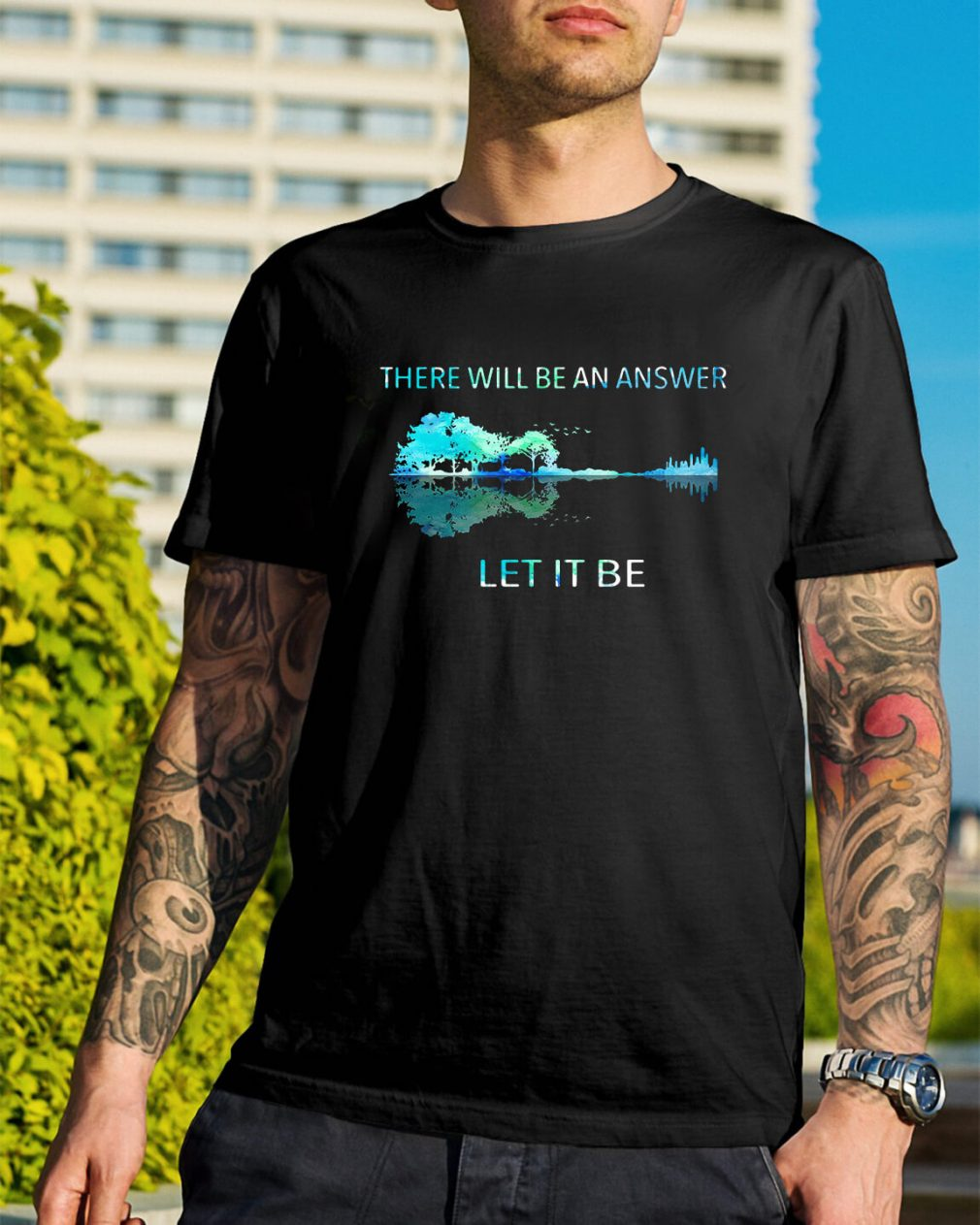Guitar lake shadow there will be an answer let it be shirt