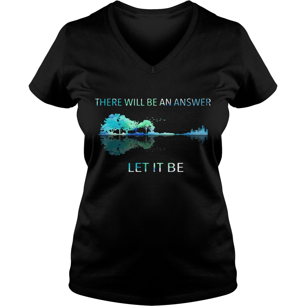 Guitar lake shadow there will be an answer let it be V-neck T-shirt
