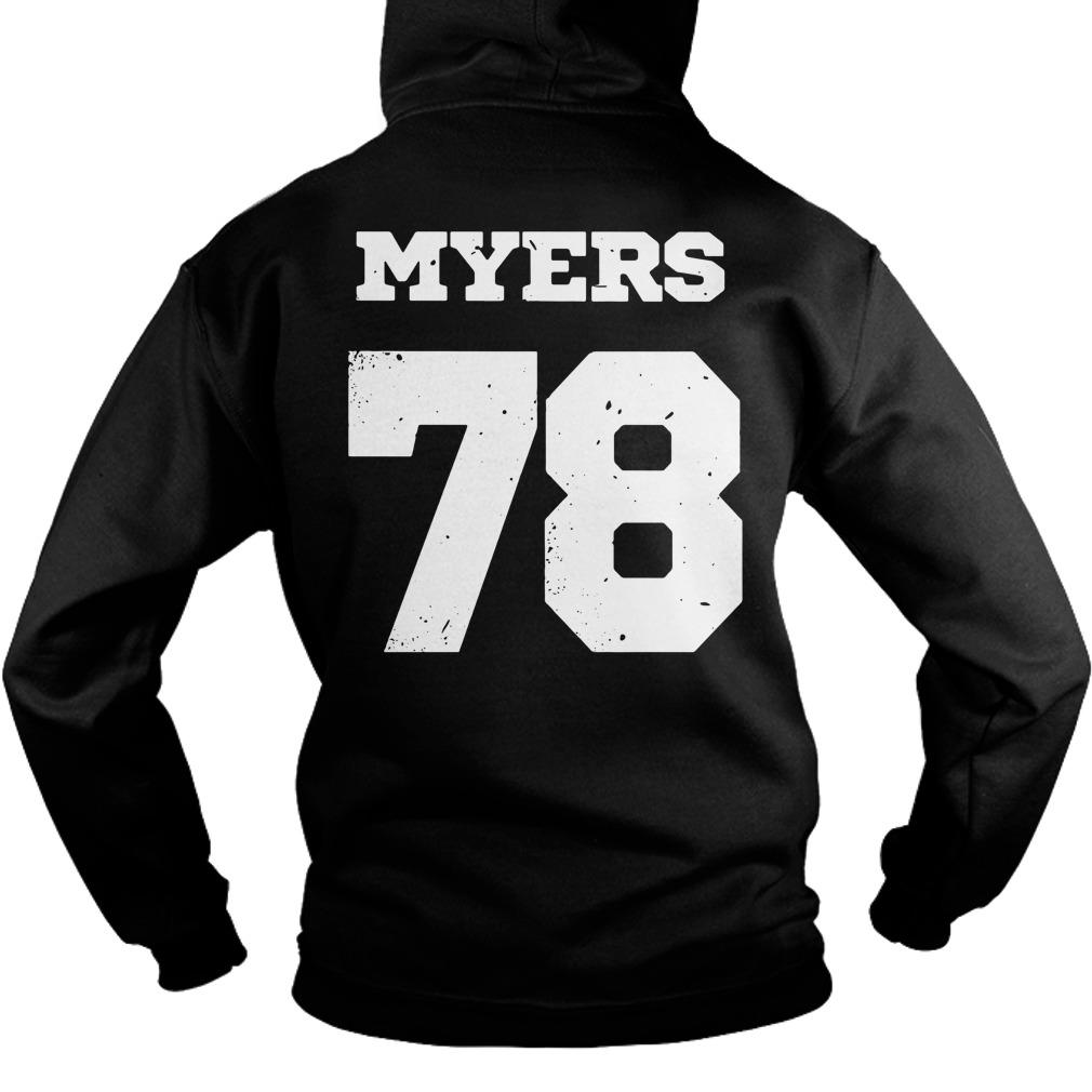 Haddonfield high school Jersey 78 Michael Myers Hoodie Front Mockup