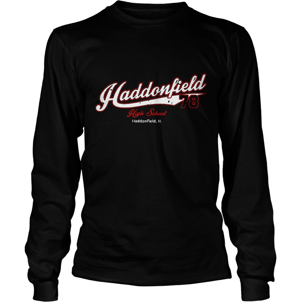 Haddonfield high school Jersey 78 Michael Myers Longsleeve Tee Back Mockup