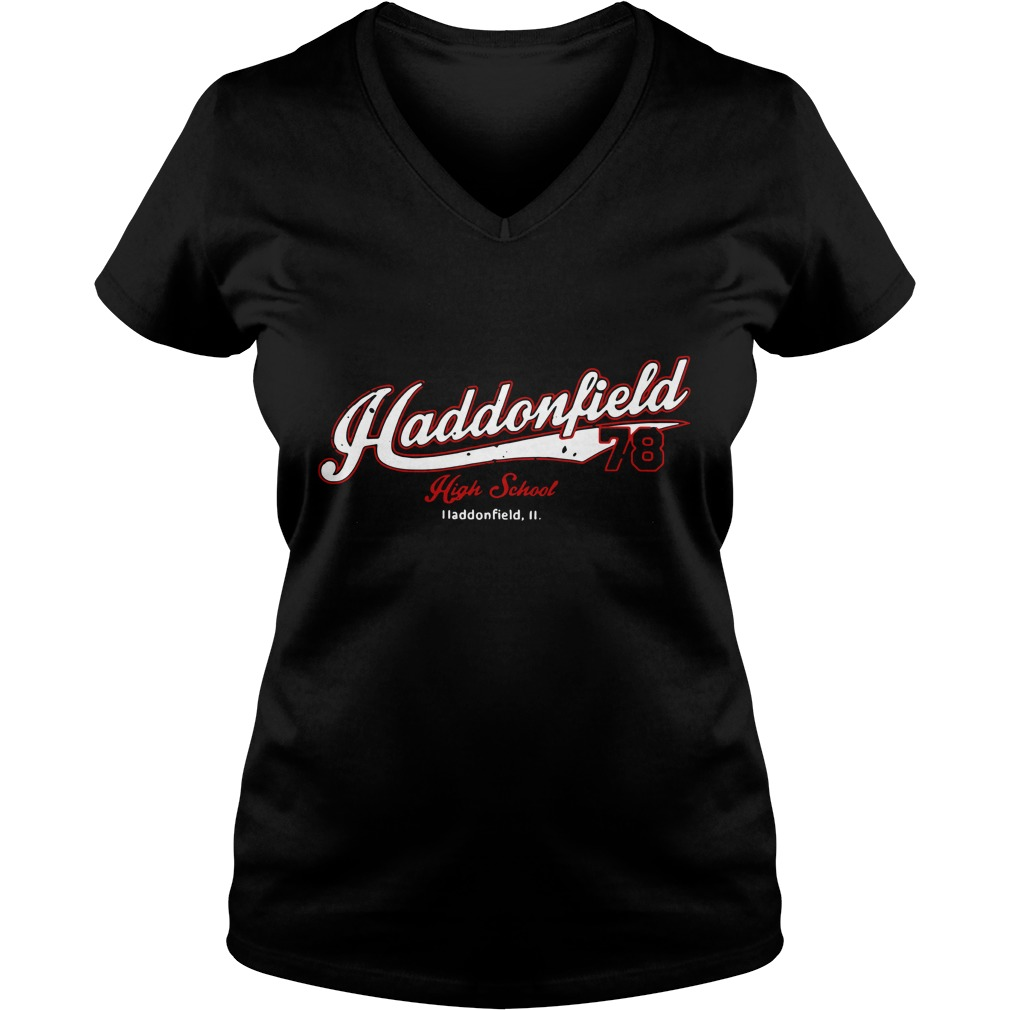 Haddonfield high school Jersey 78 Michael Myers V-neck T-shirt Back Mockup