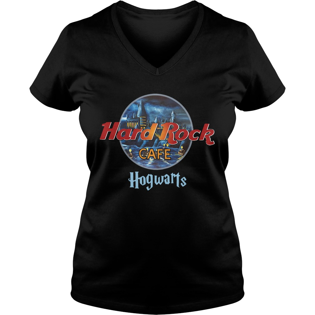 Harry Potter hard Rock cafe Hogwarts V-neck T-shirt
