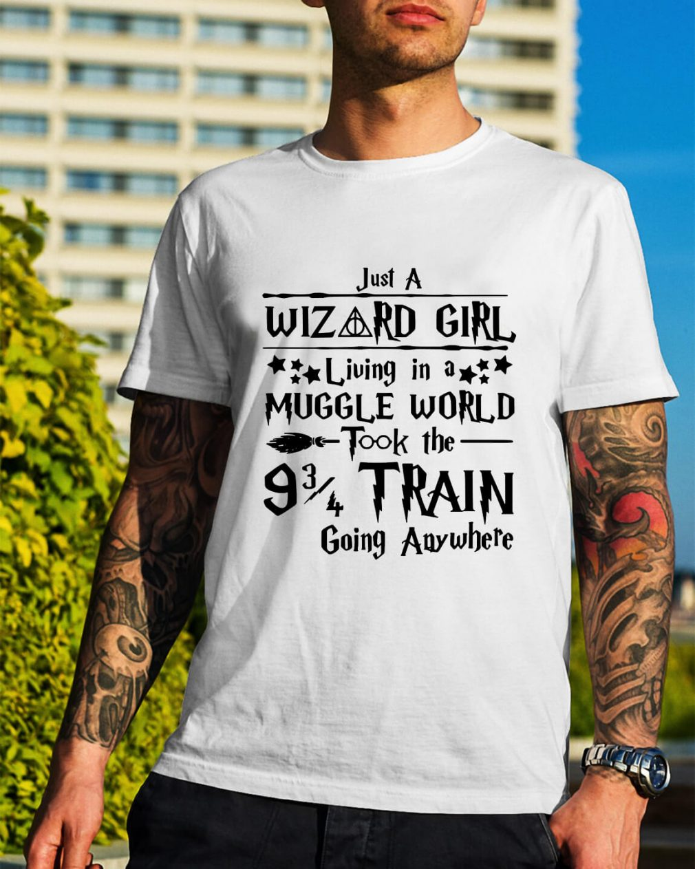 Harry Potter just a Wizard girl living in a Muggle world shirt
