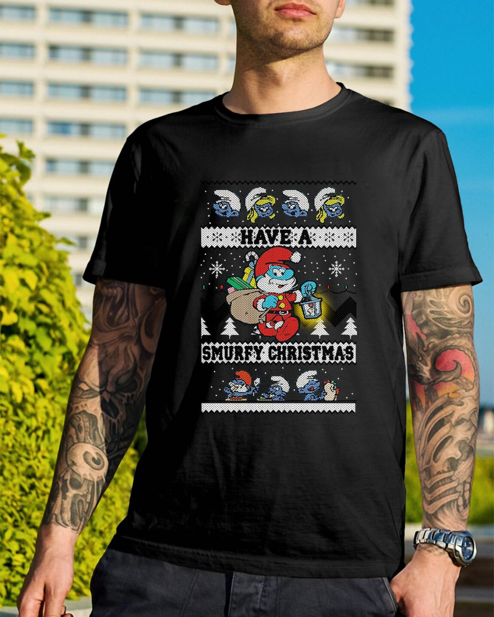 Have a Smurfy Christmas Guys Shirt