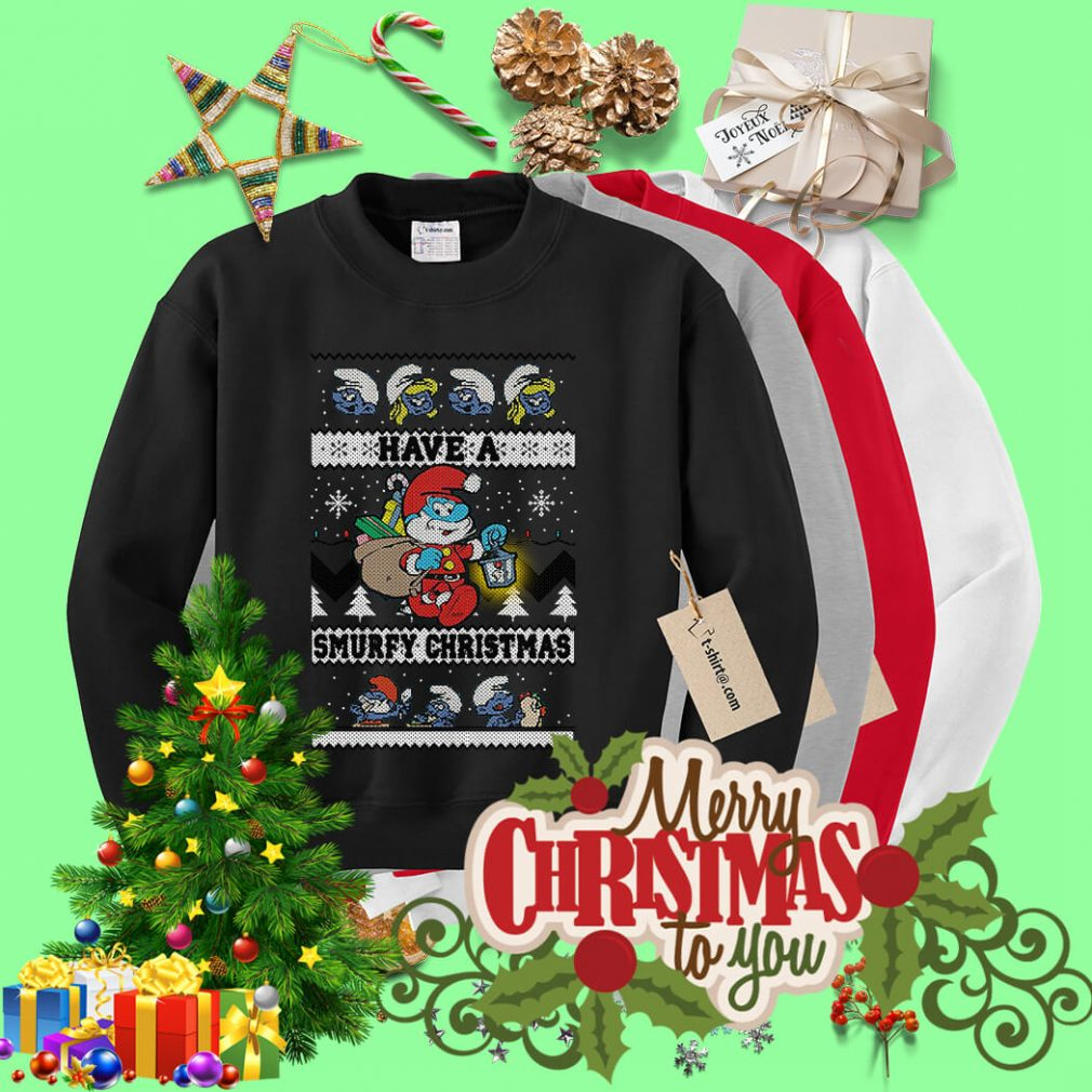 Have a Smurfy Christmas shirt, sweater