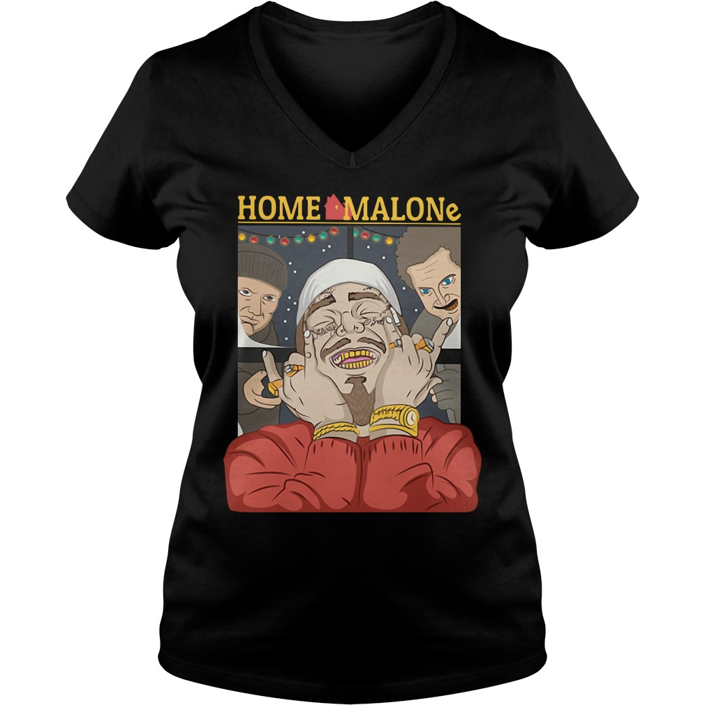 Home Alone and Post Malone Mashup V-neck T-shirt
