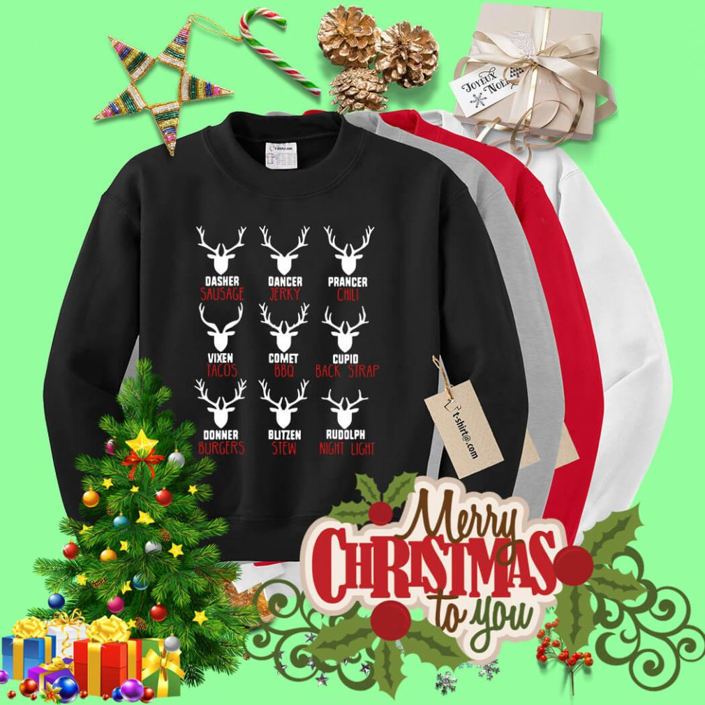 Hunters all of Santa's reindeer shirt, sweater