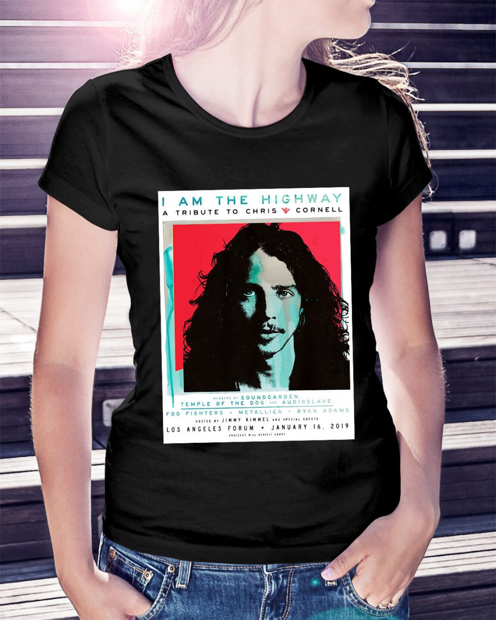 I am the Highway a tribute to Chris Cornell Ladies Tee