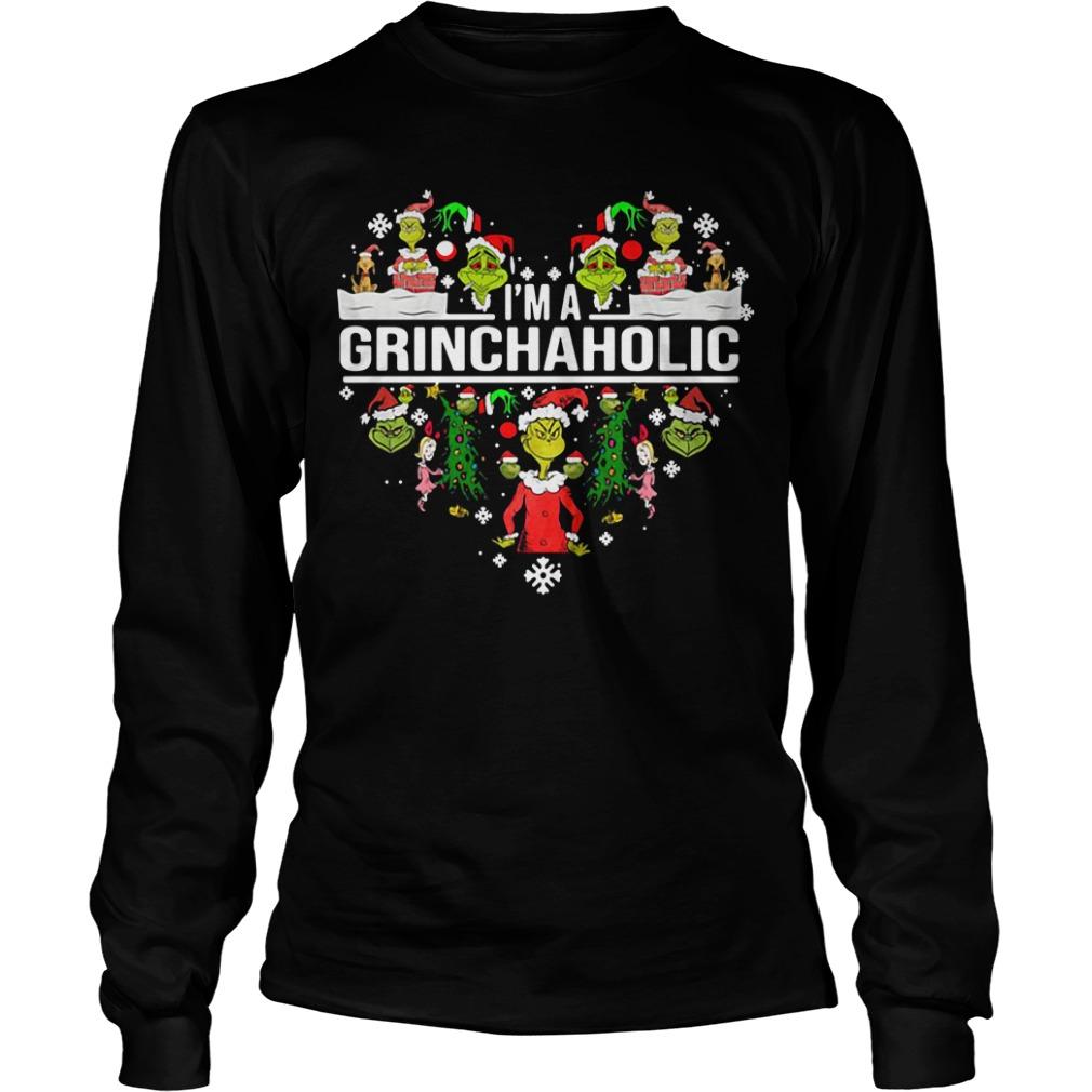 I'm a Grinch aholic Christmas Longsleeve Tee