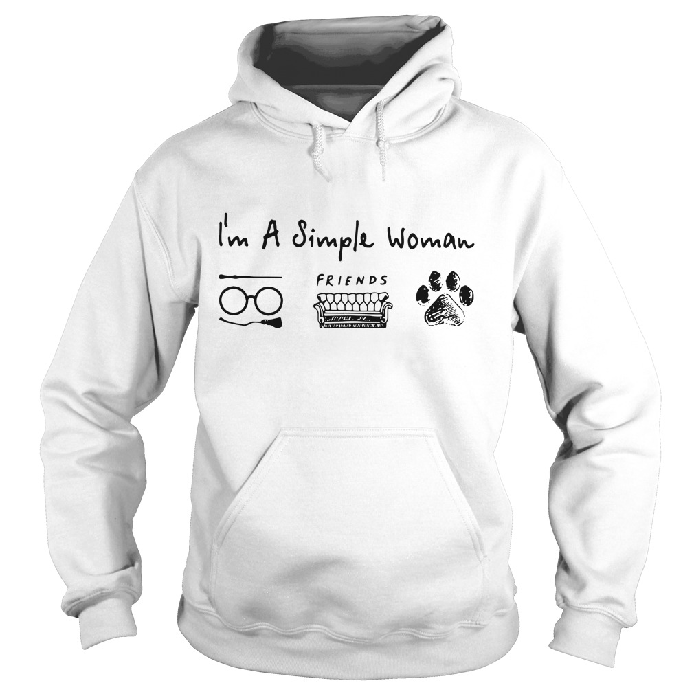 I'm a simple I like Harry Potter friends and dog paw Hoodie