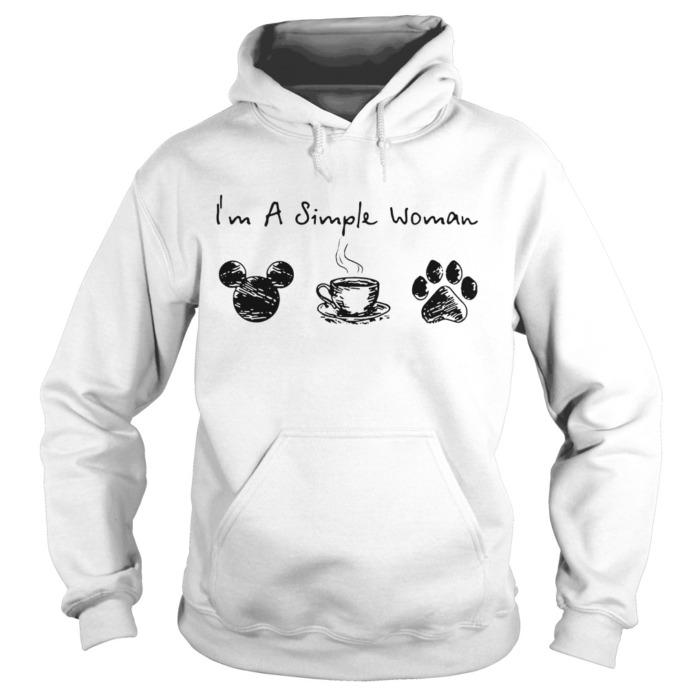 I'm a simple I like Mickey coffee and paw dog Hoodie