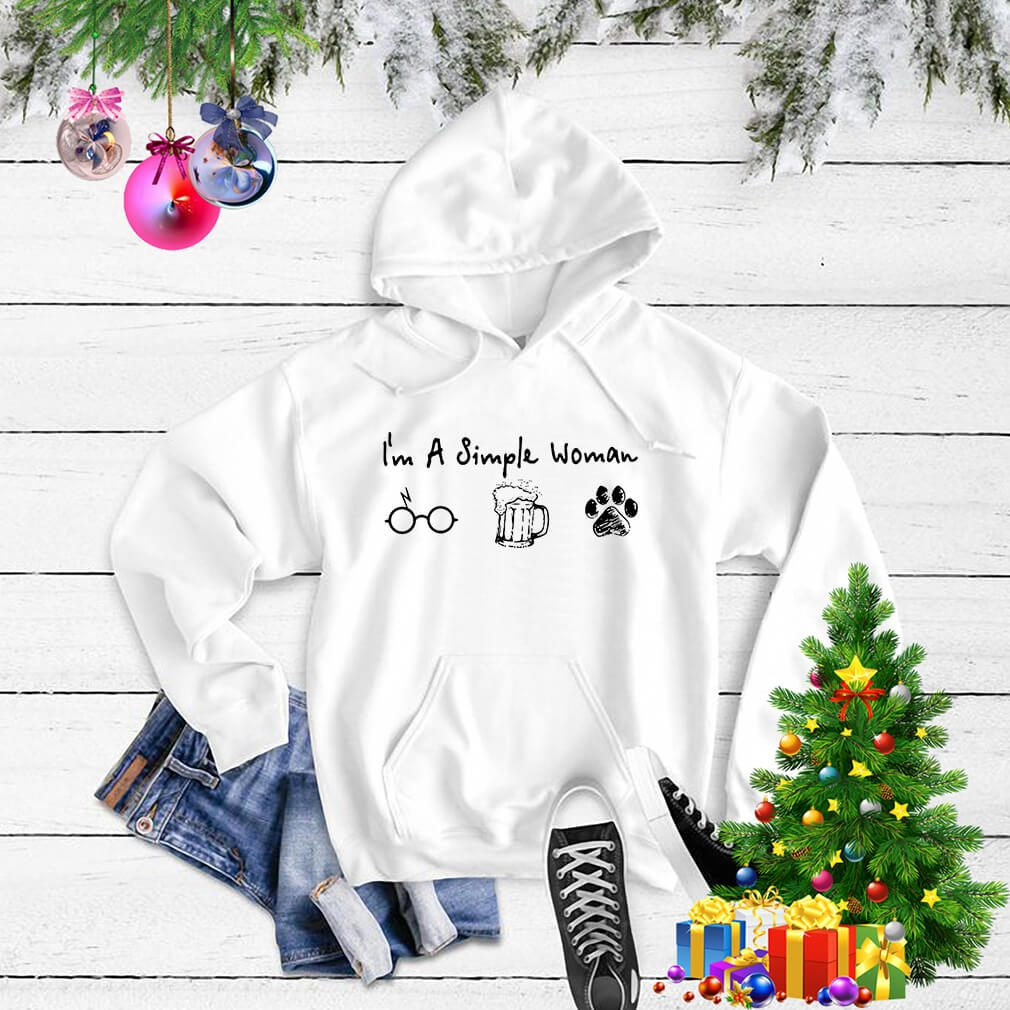 I'm a simple woman I like Harry Potter beer and paw dog Sweater