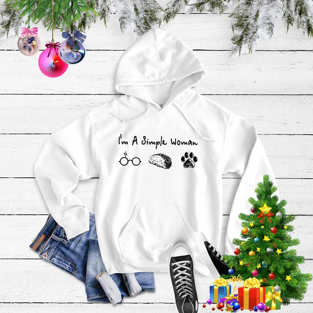 I'm a simple woman I like Harry Potter Tacos and paw dog Hoodie
