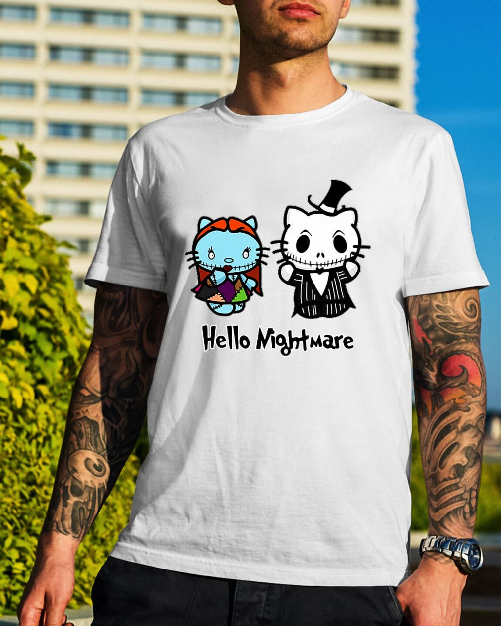 Jack and Sally hello kitty hello nightmare shirt